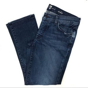 7 For All Mankind Rickie Crop Jeans Size 28